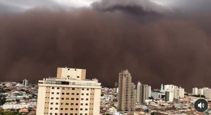 Entenda o que causou a tempestade de poeira no interior de São Paulo e qual a chance de acontecer de novo
