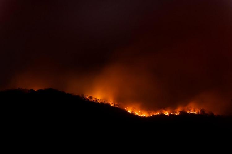 Chuva ajuda a apagar incêndio na Chapada dos Veadeiros