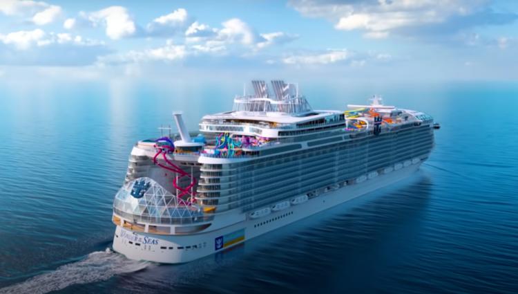 Maior navio de cruzeiro do mundo fará viagem de estreia em março de 2022